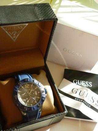 Guess Herren - Armbanduhr Xl Magnum Analog Quarz Silikon W0034g6 Bild