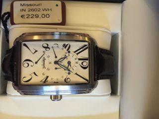 Ingersoll Missouri In2602wh Gmt Automatik Uhr 2 Zeitzonen Uhr Bild