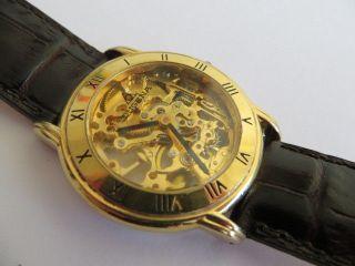 Schöne Dugena Skelett Armbanduhr Unisex Schweiz Quarz Gold Bild