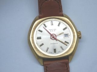 Vintage Pontiac Automatik Uhr.  Uhrwerk Eta Oder As 2841 Bild