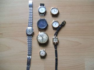 Armbanduhr Konvolut 8 Stück Verschiedene Defekte Junghans Bastleruhr Sammlung Bild