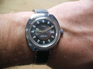 Uhr Sammlung Alte Timex Handaufzug Herren Armbanduhr An Bastler Bild