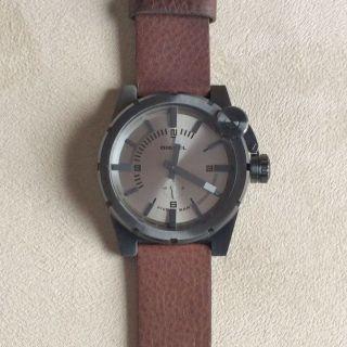 Diesel Herren Uhr - In Grau Mit Braun Leder & Verpackung Dz4238 - Bild