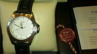 Wmc Marken Armbanduhr Edelstahl Mit Lederarmband Und Ovp Bild