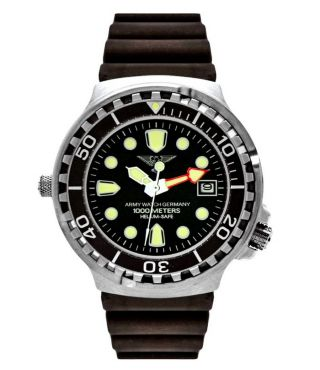 Professionelle EichmÜller Taucher Uhr Army Watch 1000m Helium Ventil Seiko Bild