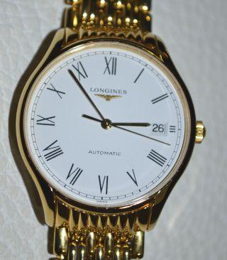 Longines Lyre Automatik Herren - Uhr Gold Plated Neuzustand / Herrenuhr Bild