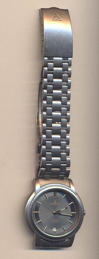 Dugena Titan Quarz Armbanduhr Watch Clock Uhr Armbanduhr Bild