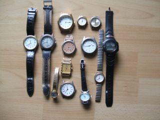 Armbanduhr Konvolut 13 Sück Verschiedene Defekte Meistr - Anker Bastler Sammlung Bild