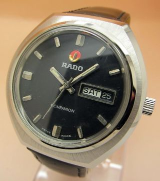 Rado Companion Glasboden Mechanische Uhr 25 Jewels Datum & Tag Lumi Zeiger Bild