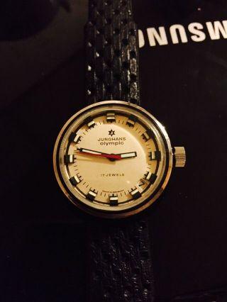 Junghans Olympic,  Datum,  Mechanisches Uhrwerk,  Sehr Schön Bild