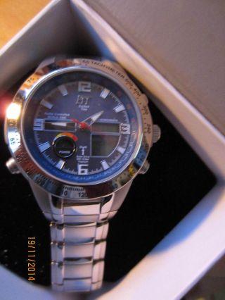 Ett Chronograph Solar Drive Funk Titan Herrenuhr W342 Titanuhr Herrenarmbanduhr Bild