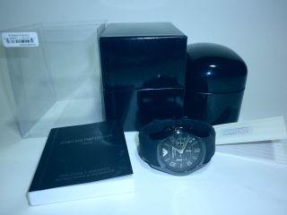 Armani Herrenuhr Chronograph Ar1430 Ceramica Ovp Bild
