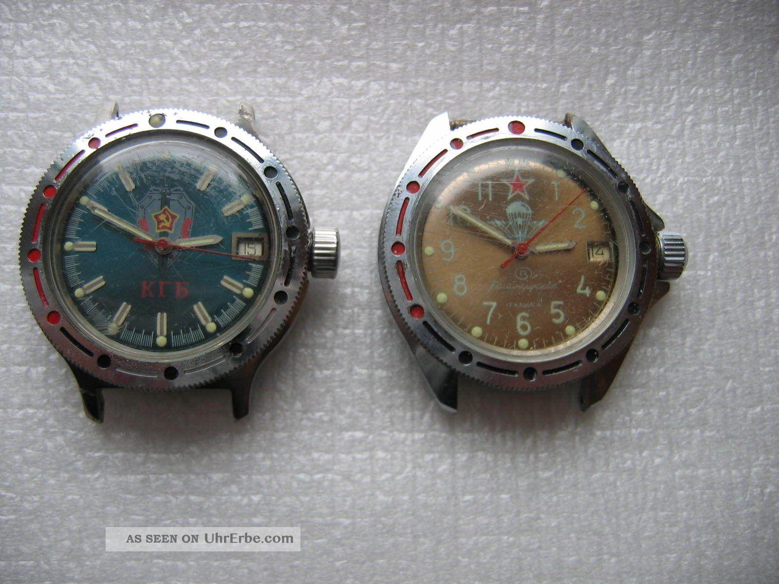 2 St.  Russische Komandirskie Armbanduhr Automatic Und Handauzug Armbanduhren Bild