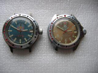 2 St.  Russische Komandirskie Armbanduhr Automatic Und Handauzug Bild