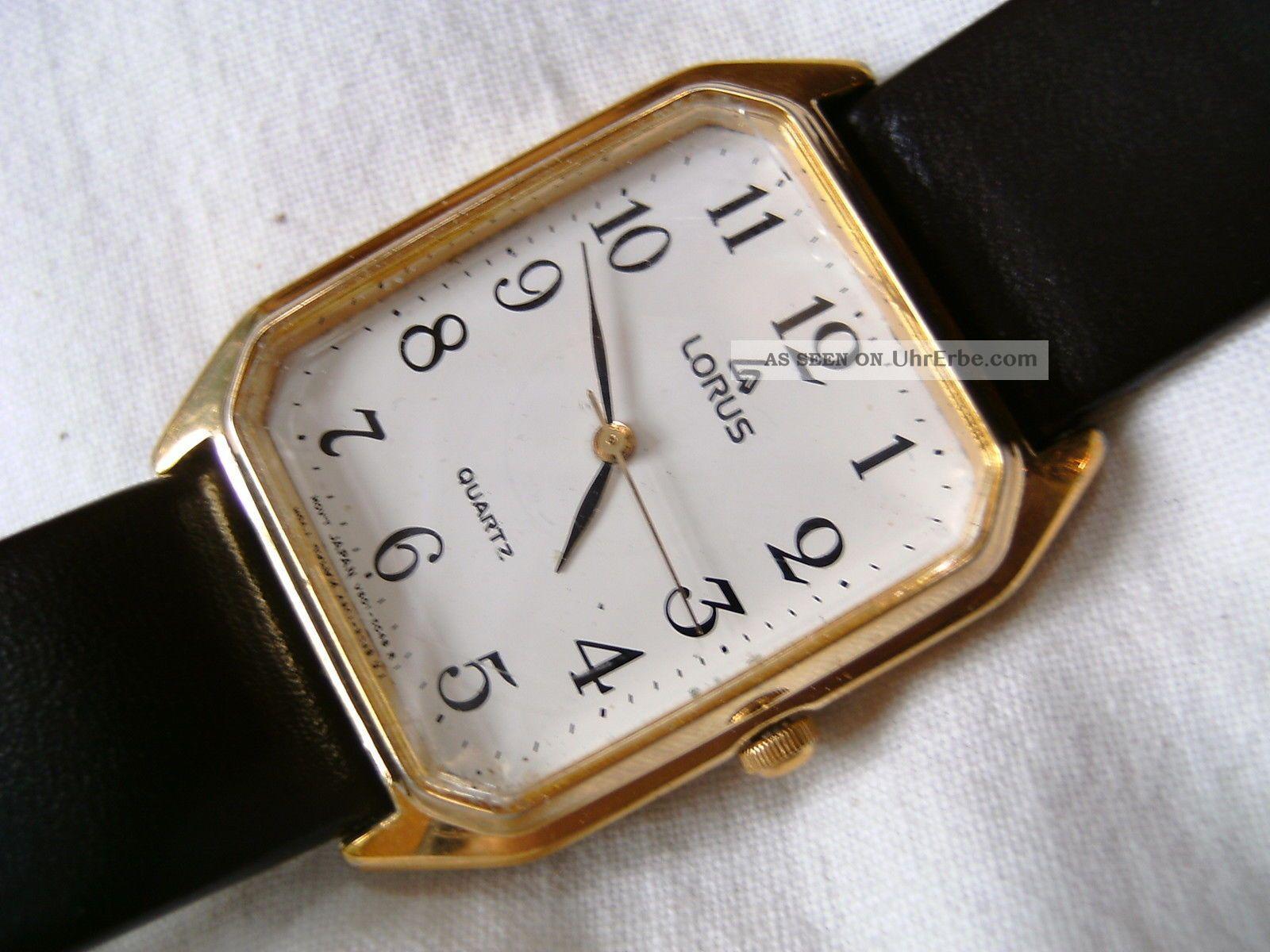 Lorus Herren Armband Uhr Quartz Japan Movt Armbanduhren Bild