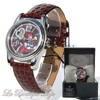Disney Armbanduhr Daisy & Donald Automatik,  Edelstahl,  Leder,  Swarovski Crystal Bild