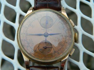 Vintage Chronographe Suisse Im 18kt Gold Mit Venus 170 Bild