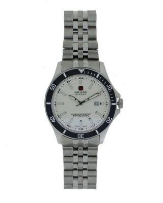 Swiss Military Herrenuhr 06 - 5161.  7.  04.  001.  07 Saphirglas 10atm Swiss Made Uhren Bild