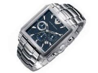 Emporio Armani Ar0660 Uhr Chronograph Herrenuhr Blau Uvp 399,  00€ Bild