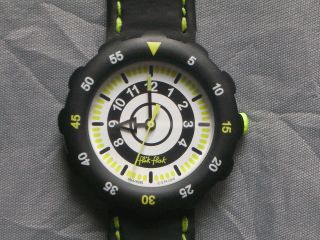 Flik Flak In Ultracoolem Design,  Schwarz - Neongrün,  Weihnachten Bild
