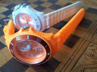 Sk Silikon Uhr Schwarz Armbanduhr Damen Herren Kinder Sport Trend Uhren Watch Bild