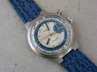 Longines Conquest Chronograph Olympic Games Munich 1972 Vintage Wrist Watch Bild