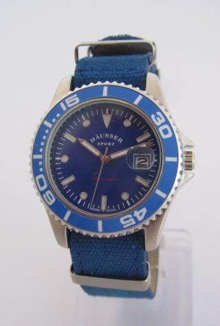 Häusser Sport Armbanduhr / Blau / Textilband / Quarz / Unisex / Bild