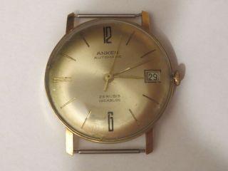 Antik Vintage Automatik Herrenuhr Anker 585 Gold Gehäuse 22 Gramm Sammler Selten Bild