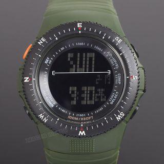 Herren Uhr Digital Sportuhr Alarm Stoppuhr Wasserdicht Grün Herrenuhr Jungen Uhr Bild