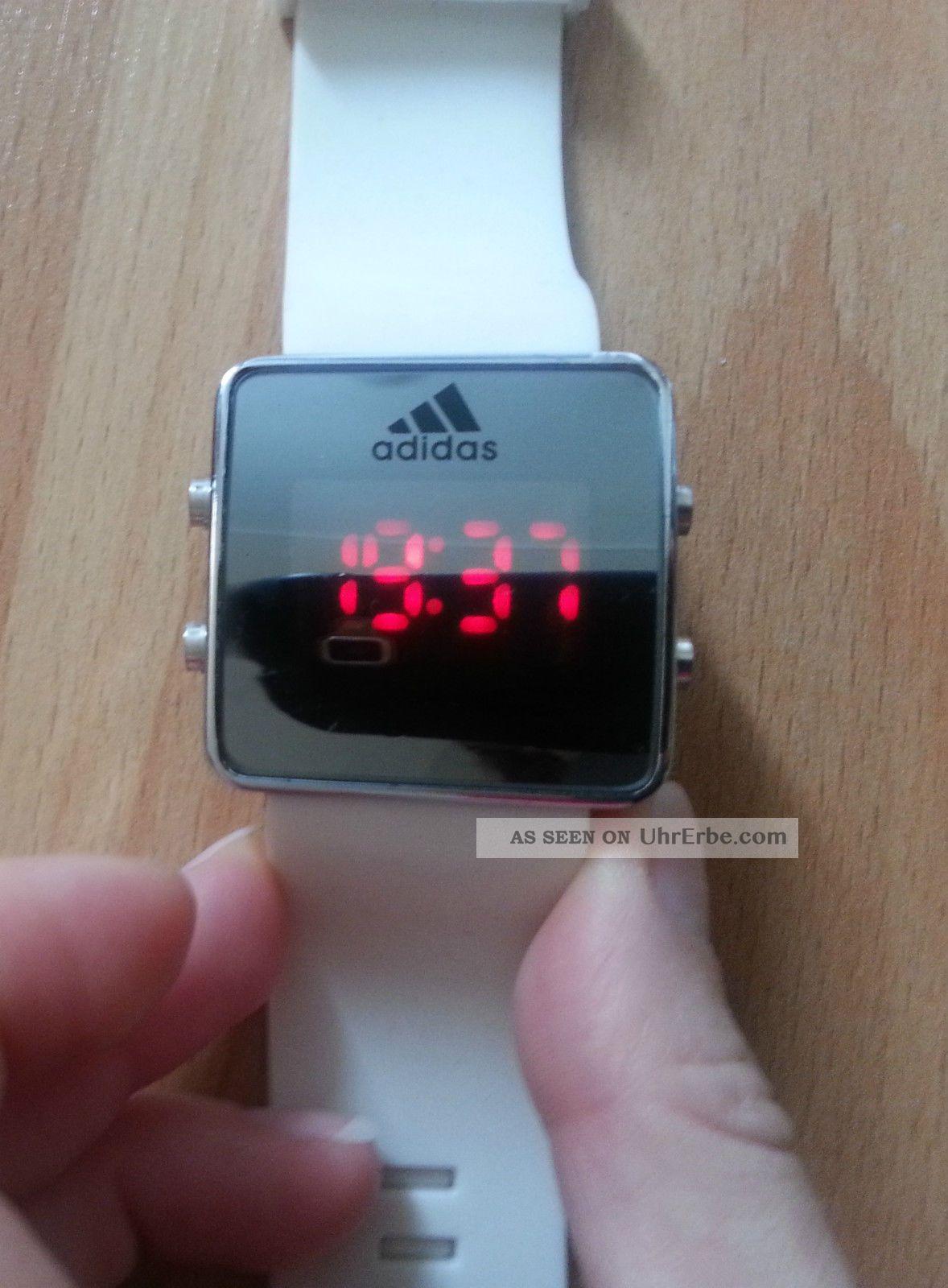 Adidas Led Watch Damenuhr Herrenuhr Weiß