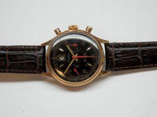 18k Verg.  Militär Fidelius Data Chronograph.  Landeron 189 Bild