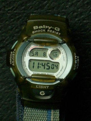 Seltener Casio Baby G Alarm Chronograph,  Herrenarmbanduhr,  Hau,  Herrenuhr,  Chrono Bild