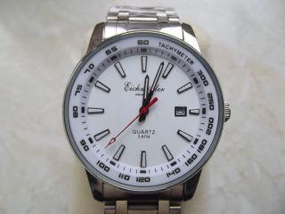Armbanduhr Eichmüller Weiss Datum Edelstahlband Quartz 3 Atm Bild