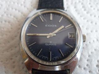 Edox Quarz Swiss Made Vintage Bild