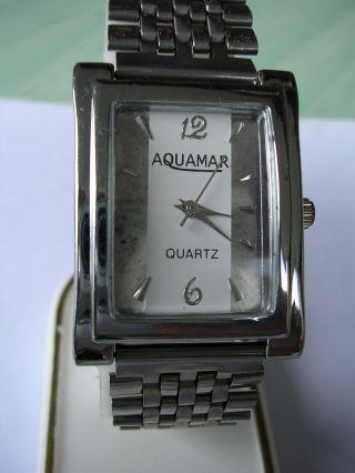 Sportliche Armbanduhr Aquamar Hau Für Herren Gut Ablesbar Bild