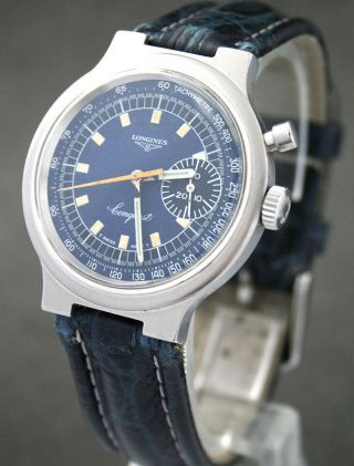 Longines Conquest Ein - Drücker Chrono Cal.  334 (column Wheel) Top Bild