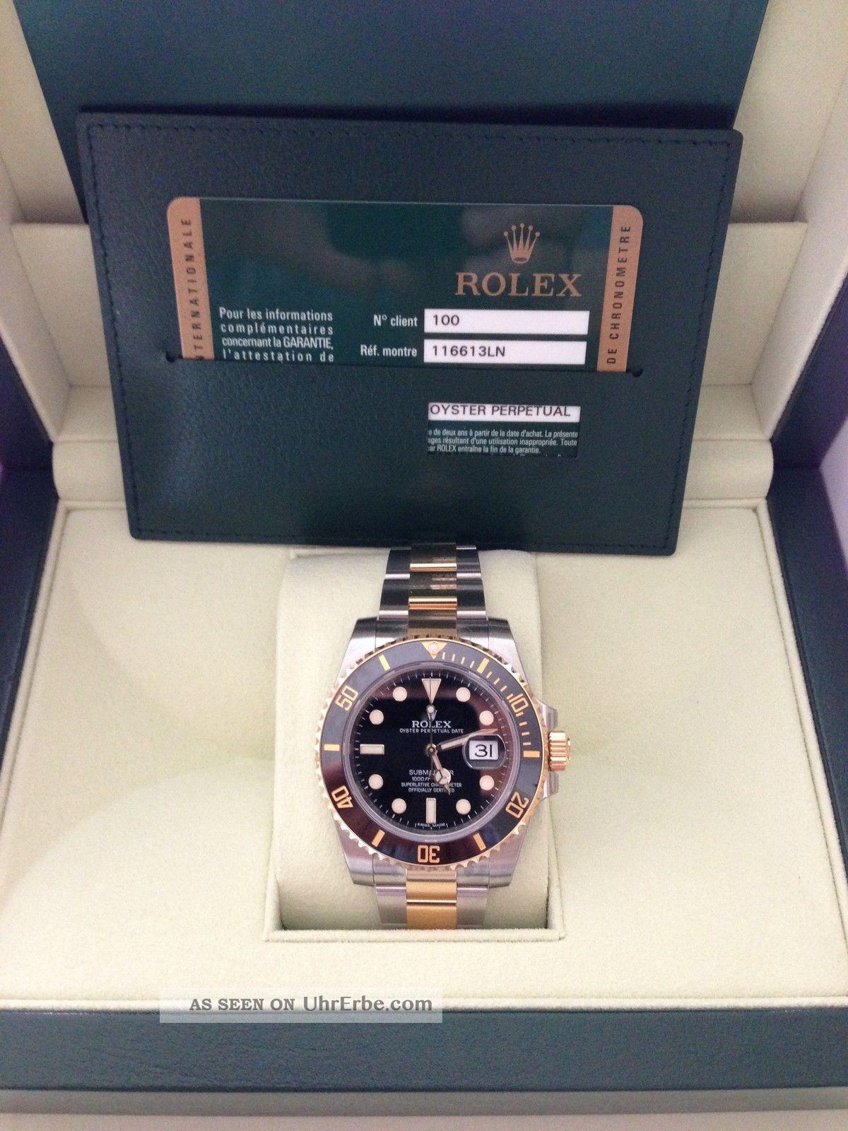 Rolex 116613ln 100 Gold Ref Stahl Lc Submariner oWQxBCerd