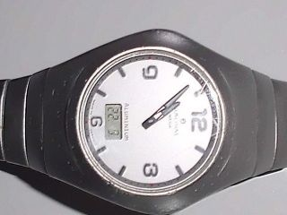 Armbanduhr,  Junghans Mega,  Funkuhr,  Aluminium Bild