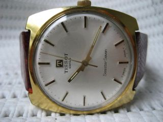 Tissot Seastar Seven Vergoldet 20mkr,  Vintage Armbanduhr Hau Top Swiss Made Bild