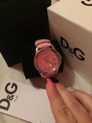 Dolce Und Gabbana Uhr,  Rosanes Lederband Bild