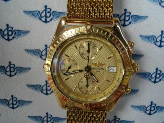 Breitling Chronomat Windrider Ref.  K13050.  1 Massiv Gold 750/18k Box & Papieren Bild