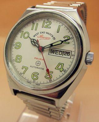 West End Watch Sowar Prima 21 Jewels Mechanische Automatik Uhr Datum & Tag Bild