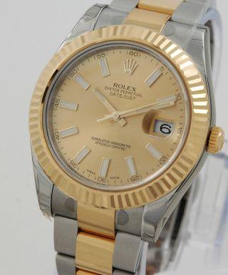 Rolex Datejust Ii 116333 Hau 41mm Stahl/gold Mit Papieren Aus 2013 Lc100 Bild