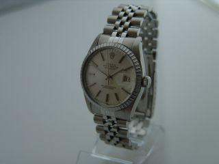 Rolex Uhr Datejust Oyster Perpetual 36mm Ref 16030 Stahl Bild