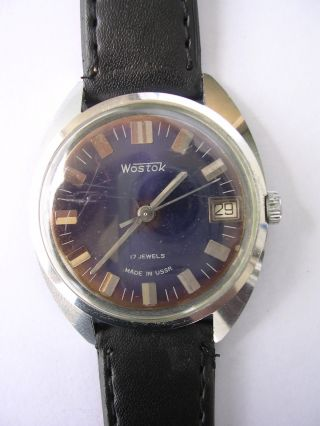 Für Sammler Handaufzug Retro Herrenruhr Wostok Boctok Vostok Hau Aus Nachlass Bild