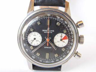 Hau,  Breitling Sprint Chronograph Handaufzug Valjoux 7733,  Läuft Gut,  Vintage Bild