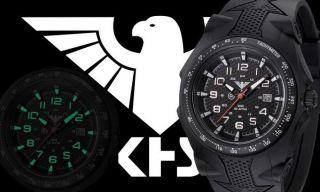 Militäruhr,  Khs Sentinel,  Silikonband,  Herrenuhr Analog,  Datum Einfach Abzulesen Bild