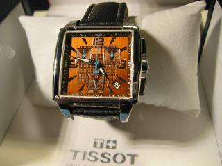 Tissot Quadrato Chronograph Wie & Ovp Top Bild
