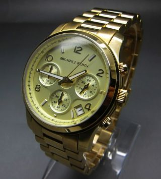 Michael Kors Paris Runway Chronograph Damen Uhr Bild