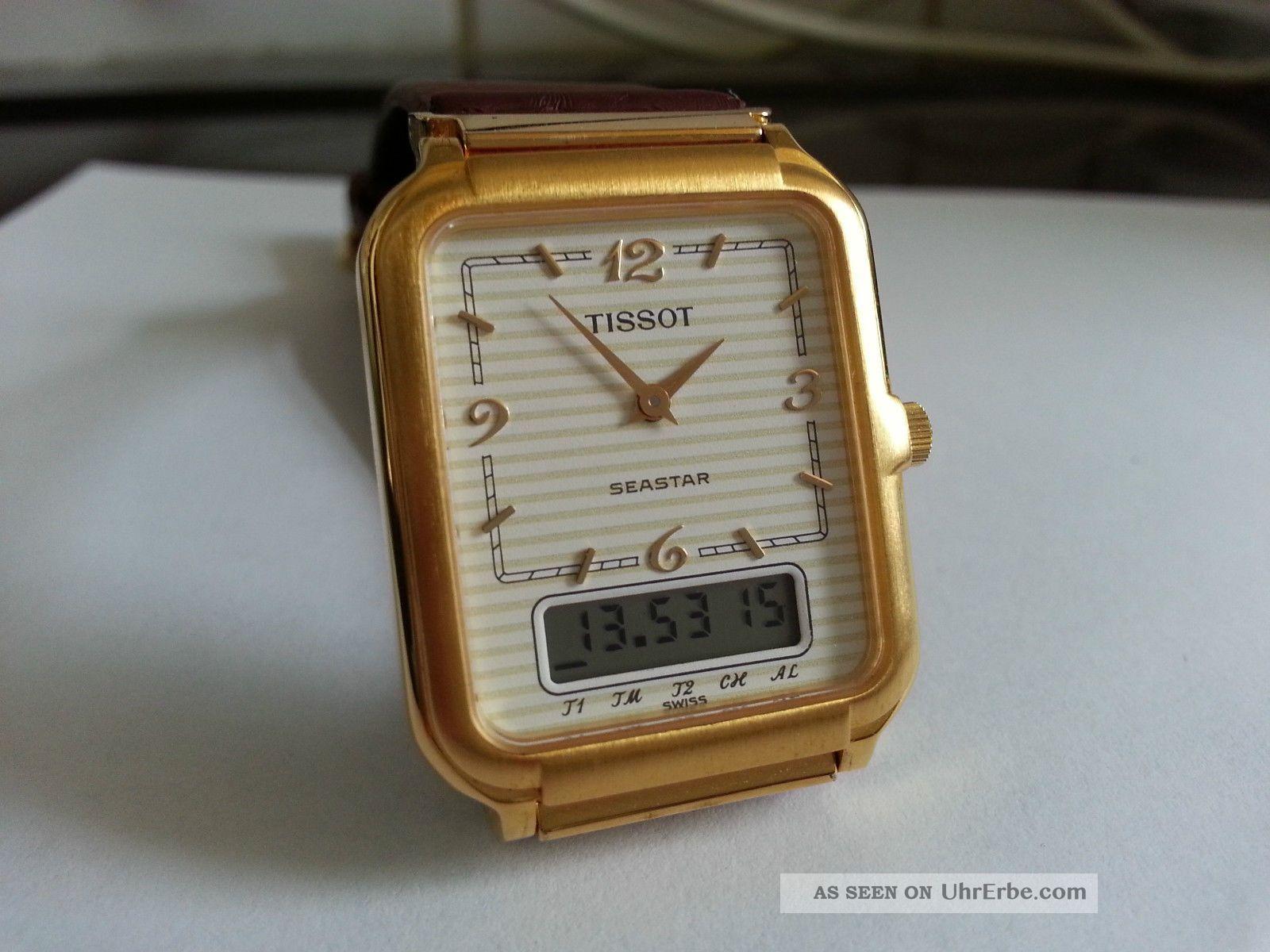 Tissot Seastar Two Timer Chronograph Alarm Neuwertig Aus Sammlung Armbanduhren Bild